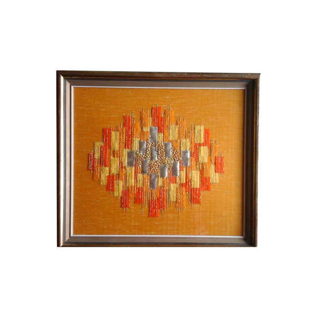 Mid Century Abstract Textile - Image 1 of 3
