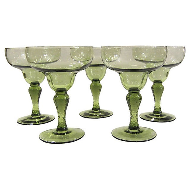 Textured Margarita Glasses - Set of 5 - Image 1 of 3