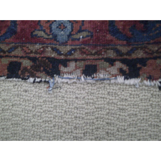 Small Traditional 1900s Red Blue Rug - 2'' x 2'' - Image 5 of 8