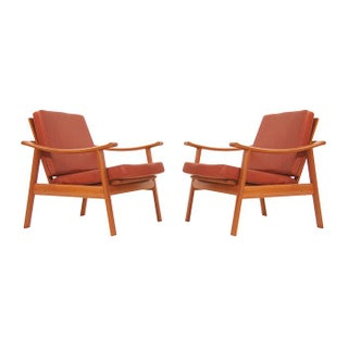 Fabricius & Kastholm Teak Lounge Chairs - A Pair