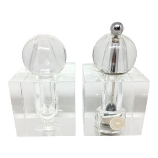 Dorothy Thorpe Crystal Salt & Pepper Shakers - A Pair