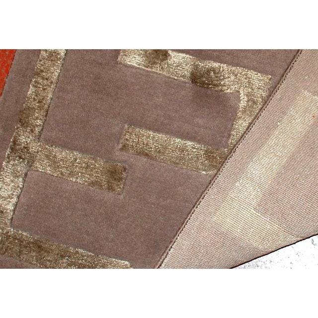 Indian Modern Silk Highlighted Rug- 3' x 5' - Image 6 of 9