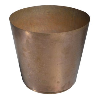 Hayno Focken brass planter, Germany, 1930s