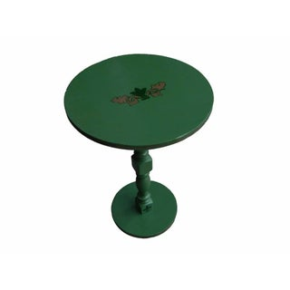 1960s Restored Vintage Green Side Table