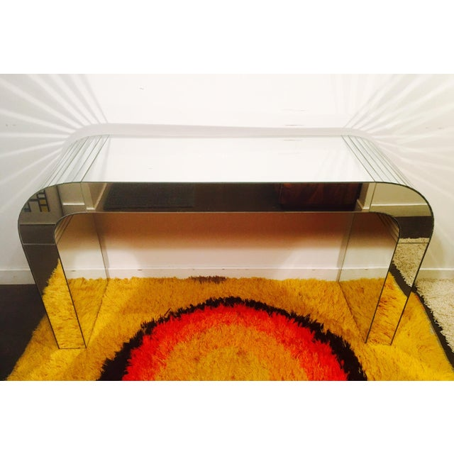 Vintage Mirrored Waterfall Console - Image 2 of 7
