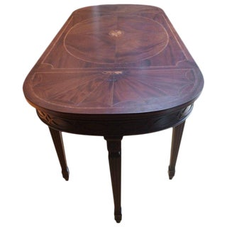 Regency Style Oblong Inlaid Mixed Wood Console or Sofa Back Table
