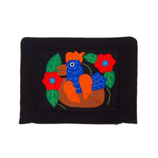 Textile Bird Pillowcase - Handmade in Panama