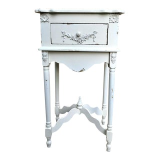 White Painted Single Drawer Side Table