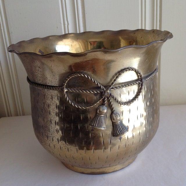 Vintage Etched Metal Brass Vessel - Image 3 of 9