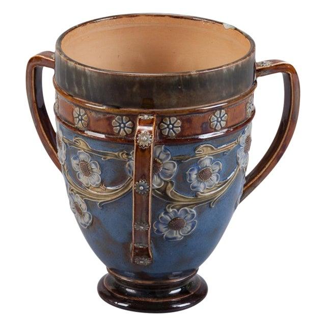 Royal Doulton Three Handled Earthenware Vase - Image 1 of 5