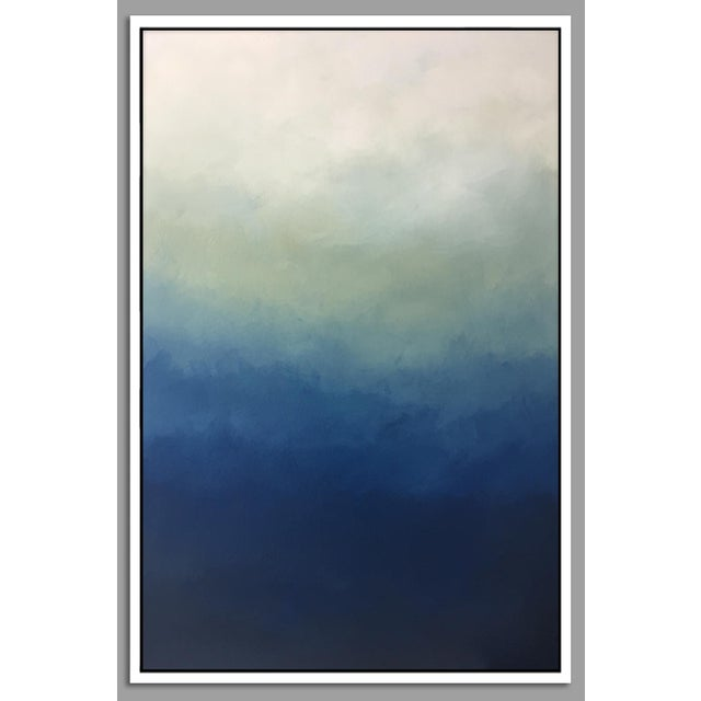"""""""Abstract Blue Ombre"""" Framed Giclée - Image 2 of 3"""