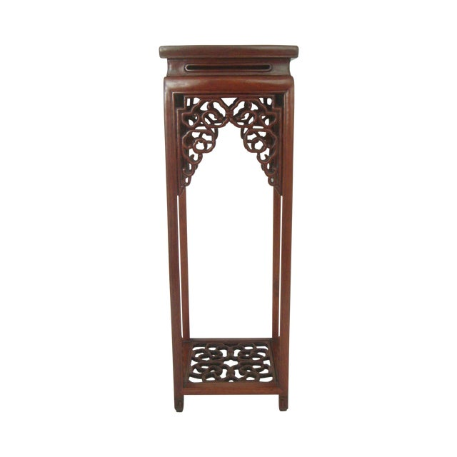 Ornate Chinese Rosewood Display Stand - Image 2 of 8