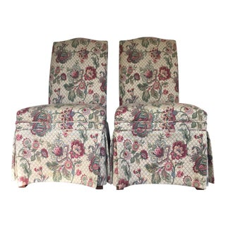 Ethan Allen Upholstered Side Chairs - Pair