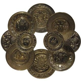 10-Piece Mid-Century Brass Wall Grouping