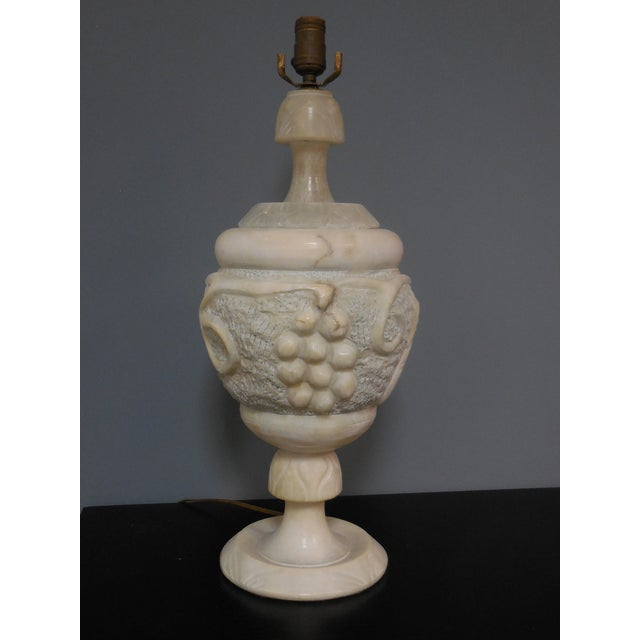 Large Art Deco Alabaster Lamp - Image 2 of 5