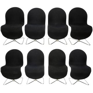 """Verner Panton """"1-2-3"""" System Chairs - Set of 8"""