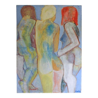 Original Nude Oil on Canvas - Abstract Painting
