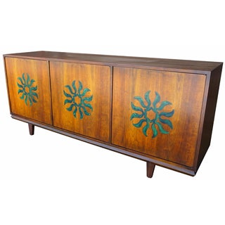 Cal Mode Resin & Walnut Credenza