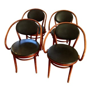 Thonet No. 210 P - Bentwood Classic Upholstered Armchairs - Set of 4