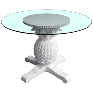 Pineapple Glass Top Dining Table