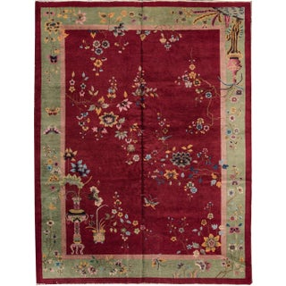 Chinese Red Peking Rug - 9' x 12'