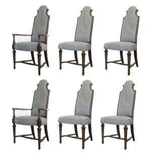 High Back Regency Dining Chairs - Set of 6
