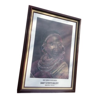 1985 Black Goddess Portrait Print