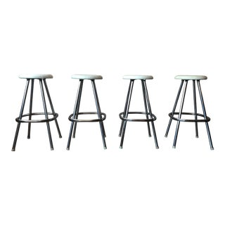 1950's Chrome Bar Stools - Set of 4