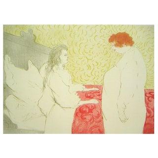 Toulouse-Lautrec Deux Femmes Lithograph