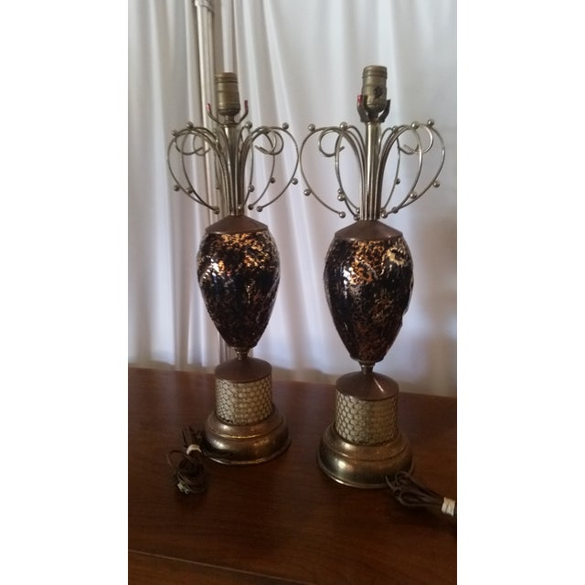 Mid-Century Abstract Lamps - a Pair - Image 5 of 6
