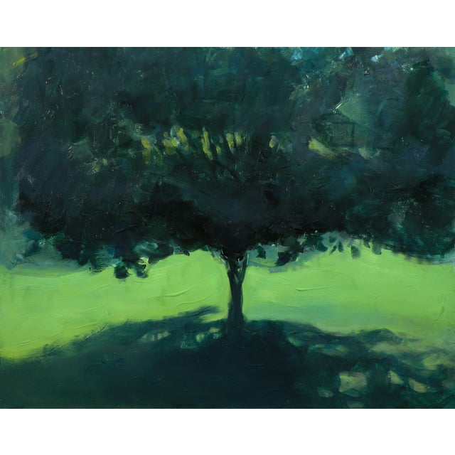Original Landscape Painting of a Tree in Summer - Image 1 of 6