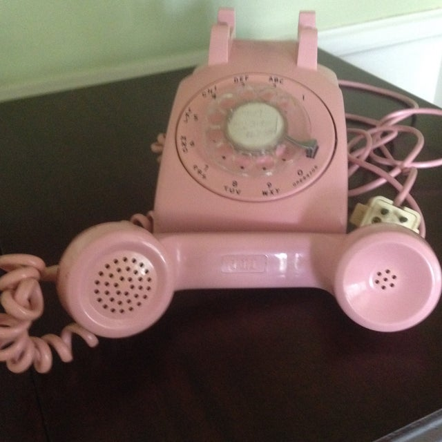Vintage Pink Rotary Dial Telephone - Image 5 of 11