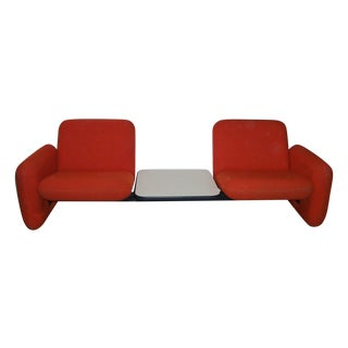 Vintage Herman Miller Chiclet Loveseat Couch Sofa