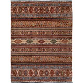 Shawl Garish Aurelio Rust & Gold Wool Rug - 8'10 X 11'10