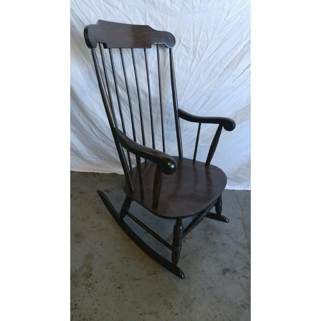 Vintage Spindle Back Windsor Rocking Chair - Image 2 of 5