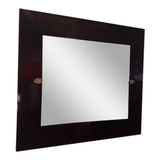 Barbara Barry Mahogany Beveled Wall Mirror