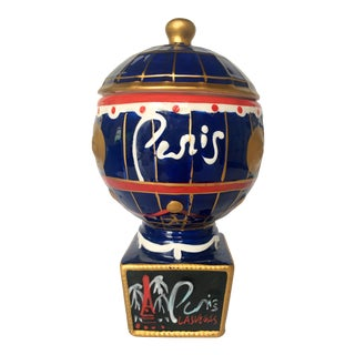 Ceramic Paris Hotel Canister