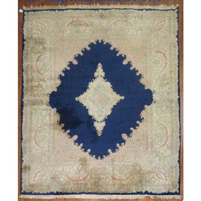 Vintage Persian Kerman Rug - 10'4'' x 13'2'' - Image 2 of 10