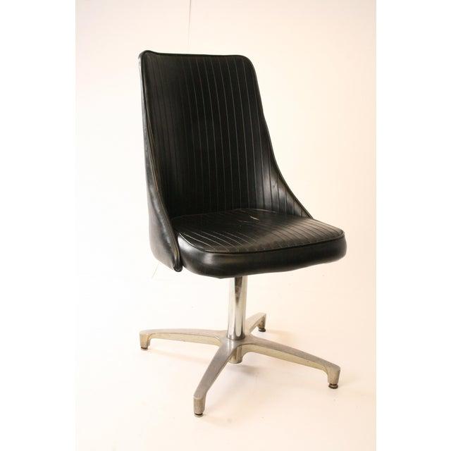 Chromcraft Mid-Century Black Swivel Dining Chair - Image 2 of 11