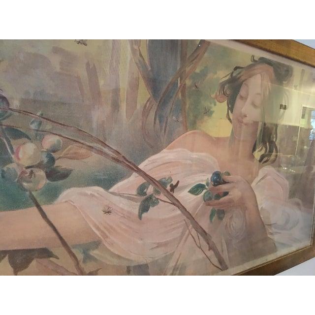 Art Nouveau 'Lady & Flowers' Poster - Image 4 of 10