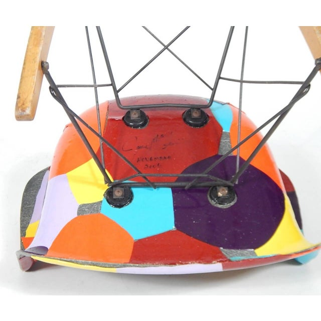 Early Eames 1950s Rocker Updated by Artist Jim Oliveira - Image 5 of 8