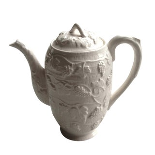 White Ceramic Tea/Coffee Pot Kettle