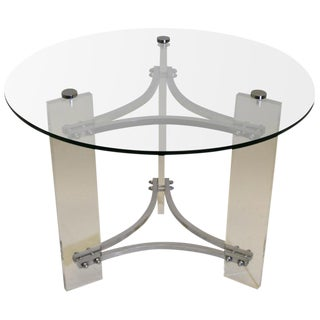 Lucite and Chrome Table by Charles Hollis Jones