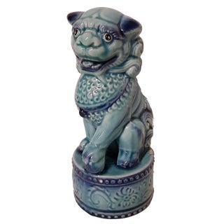 Vintage Blue Foo Dog Lion, Chinese Art