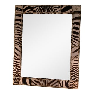Authentic Zebra Hide Mirror