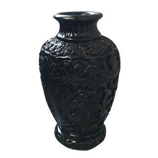Asian Black Plaster Urn