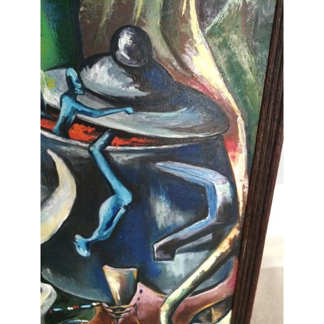Haitian Voodoo Oil Painting, 1972 - Image 8 of 8