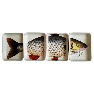Rare Piero Fornasetti Porcelain Fish Appetizer Hors D'oeuvre Tray, Pesces