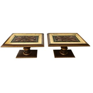 Vintage Table Glass Tops - A Pair