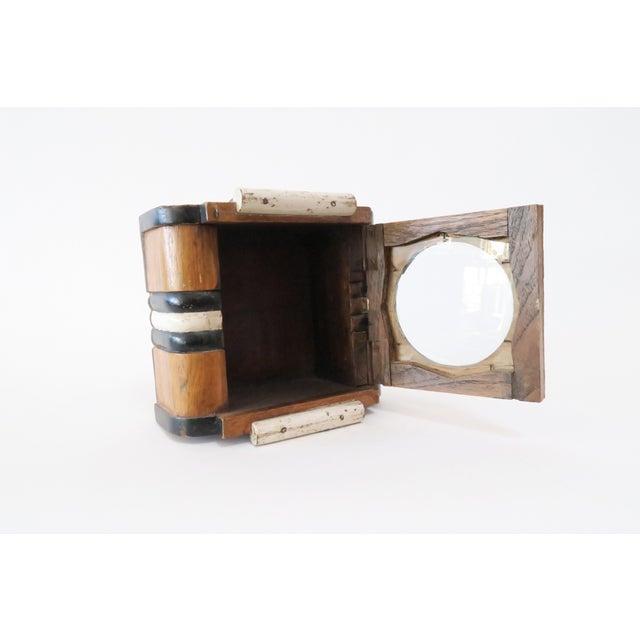 Vintage Wood Wall Mount Hanging Display Case - Image 5 of 7